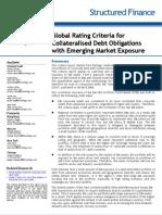 Fitch Global Rating CDO Criterias