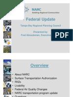 NARC Federal Update May 2010 Building Regional Communities