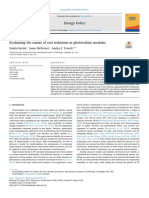 Evaluating the Causes of Cost Reduction in Photovoltaic Modules