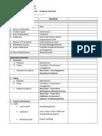 Audit Walkthrough Questionnaire