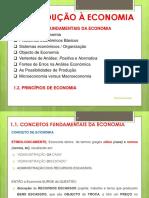 MICRO I Unidade 1 Conceitos Básicos e Princípios de Economia