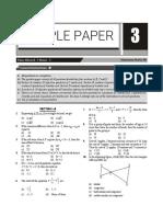 CBSE Class 10 Mathematics Sample Paper 3