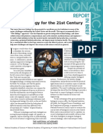 A New Biology for the 21st Century, Report in Brief