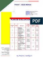 PLAN DE EVALUACION DE MATEMATICAS I