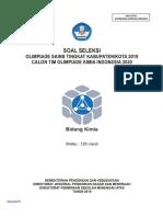 Kimia Soal OSK SMA 2019