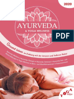 Ayurveda Broschuere Yoga Vidya 2020