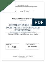 optimisation des coûts logistique d'une opération d'importation dés l'arrivage jusqu'a l'enlèvement