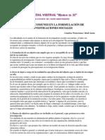 Wainerman Errores Comunes en La ion de Investigaciones Sociales