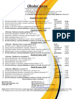 Obedné menu 02. 03.-06. 03 .2020