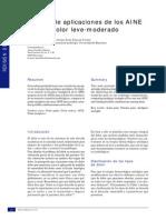 Estudio de Aplicaciones de Los AINE Para Dolor Leve- Moderado- Biennnnnnnnnnnnnn