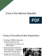 crisis in the weimar