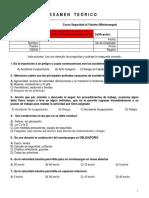 Examen Teórico - Montacargas CB