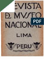 Revista Del Museo Nacional  Tomo  XLVII