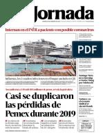 portada la jornada 28 febrero 2020