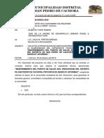 INFORME N°002 SOLICITO CONSULTOR EXPEDIENTE TECNICO-POSTA ASIL.docx