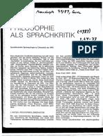 Weibel - PHILOSOPHIE ALS SPRA
