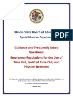 Guidance FAQs Time Out Restraint
