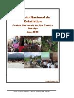 Contas Nacionais de STP ano base 2008