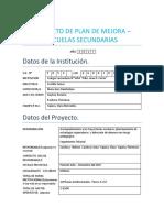 PROYECTO DE PLAN DE MEJORA tutorias 2017(1)