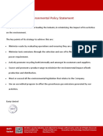 Easty Ltd Environmental Policy Statement