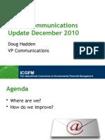 2010-12-06 ICGFM Communications Update