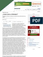 ¿Quién teme a Wikileaks (Manuel Castells)