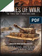 Flames of War - FoW - 4.0 - Special Rules & Warriors Errata