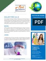 Carta de Presentación SOLAR FIRE