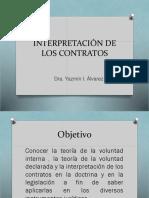 Interpretación de los contratos