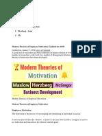 Modern Theories of Employee Motivation_Report.docx