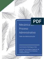 Mecánica del Proceso Administrativo