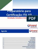 Preparatório para Certificação  ITIL V3 - Introdução