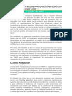 INSTRUCCIONES Y RECOMENDACIONES PARA INICIAR - MMS - CDS - MMS2 - DMSO