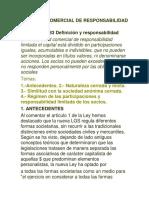 SOCIEDAD COMERCIAL DE RESPONSABILIDAD LIMITAD Parte 1