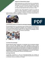 Aplicación de la psicología en la vida personal y grupal