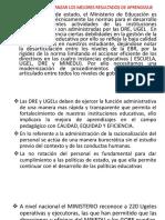 GESTION PARA ALCANZAR LOS MEJORES RESULTADOS DE APRENDIZAJE
