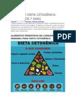 7dCARDÁPIO DIETA CETOGÊNICA