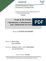 Projet de fin d études «Spécification d alimentations externes pour équipements du tramway».pdf