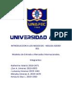 Modelos de Entrada a Mercados Internacionales. (2)