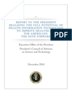 Report to the President - Realizing the Full Potential of Health Information Technology to Improve Healthcare for Americans - The Path Forward