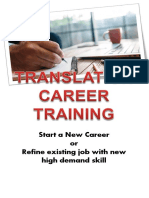 Translation Career Training Brochure