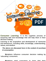 Consumer Learning & Memory