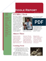 Riddle Christmas Newsletter 2010