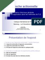 L_approche_actionnelle_Presentation