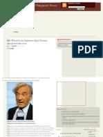 Elie Wiesel is an Impostor Says Former Auschwitz Survivor _ Romanian Nationa