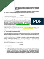 juicio oral rendición de cuentas contrato de agencia