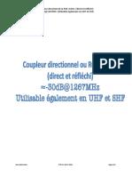 Coupleur directionnel ou ROS-mètre (direct et réfléchi) -30dB@1267MHz (Utilisable également en UHF et SHF)