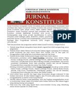 Pedoman Jurnal Konstitusi