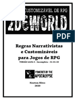 2d6World Alpha 3 - Incompleta - Sistema de RPG Narrativista e Customizavel