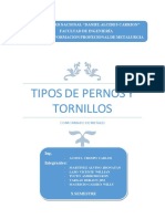 TIPOS DE PERNOS Y TORNILLOS